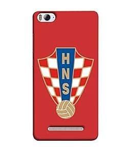 ColorKing Football Croatia 08 Red shell case cover for Xiaomi Redmi 4A
