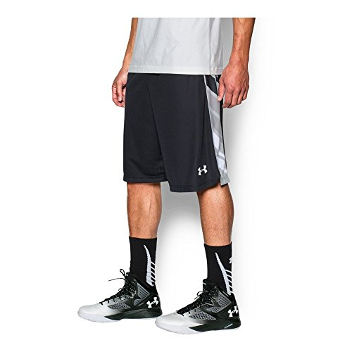 Under Armour Men's Select Basketball Shorts, Black/Stealth Gray, Small