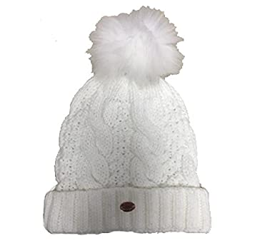 Image Unavailable. Image not available for. Colour  Aran Traditions Cream  White Knit Faux Fur Pom Pom Bobble Hat 020bc7d76c5