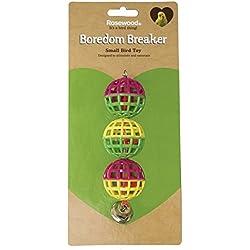 3 Lattice Balls With Bell - Pet Bird Toy