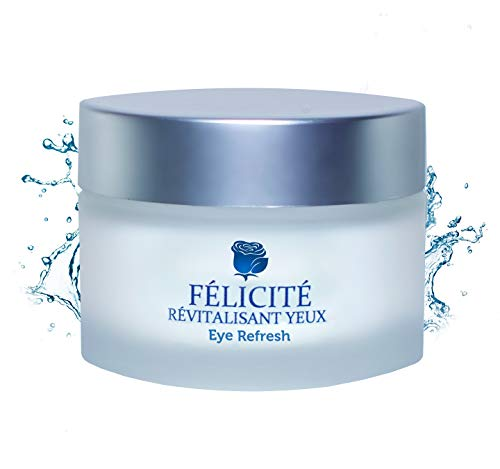 Félicité Natural Anti Aging Eye Cream: Under Eye Treatment for Dark Circles, Puffiness, and Eye Bags ~ Reduces Fine Lines & Wrinkles ~ Soothes, Hydrates, and Revitalizes ()