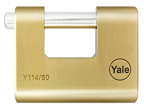 Yale Locks Y114 60mm 5 Pin Cylinder Brass Shutter Padlock for sale  Delivered anywhere in USA