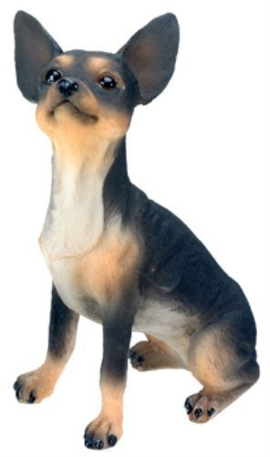 Collectible Figurine Dog (Chihuahua (Black) Dog - Collectible Statue Figurine Figure Sculpture by StealStreet)