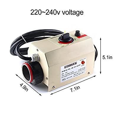 cjc Premium Quality Water Heater Thermostat 220V 3KW Swimming Pool Thermostat SPA Bath Portable Pool Heater Electric Water Heater Thermostat Heater Pump
