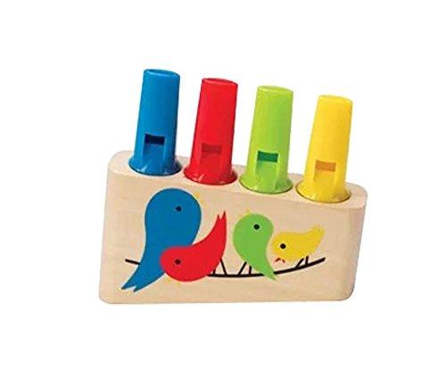 Children Wooden Whistle . Rainbow - Flute Cartoon
