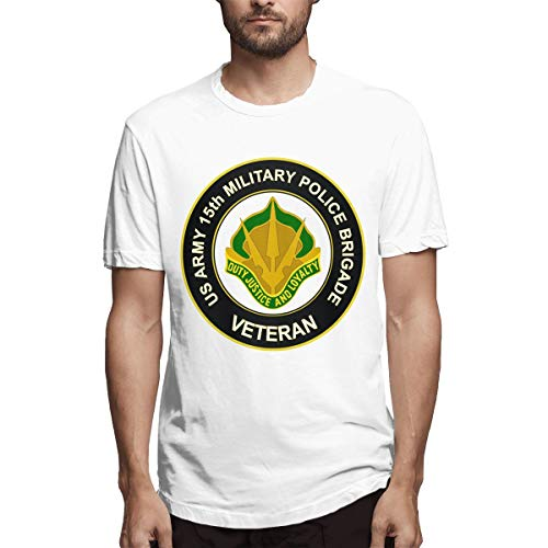 U.S. Army 15th Military Police Brigade Unit Crest Veteran T-Shirt Men T-Shirt White
