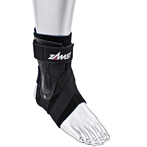 Zamst A2-DX Right Ankle Brace, Black, Small Photo #4