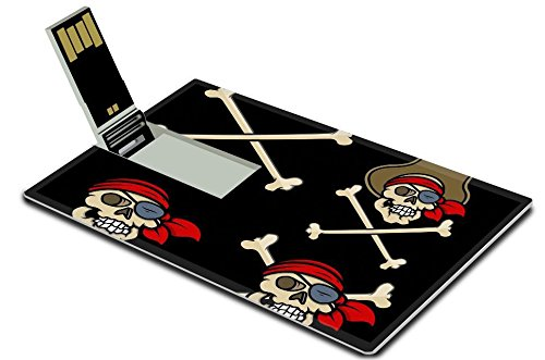 [Liili 32GB USB Flash Drive 2.0 Memory Stick Credit Card Size captain pirates skull Vector Cartoon Illustration Photo 21505582 Simple Snap] (Simple Character Day Costumes)
