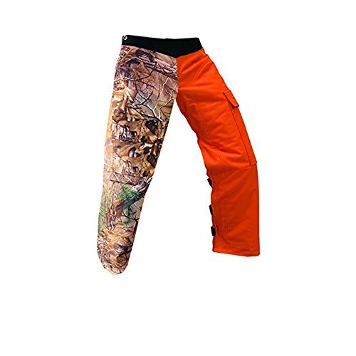 Forester Chainsaw Apron Safety Chaps with Pocket Regular 37', Real Tree Camo/Orange Reversible