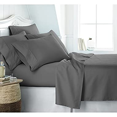 Egyptian Luxury 1800 Hotel Collection Bed Sheet Set - Deep Pockets, Wrinkle and Fade Resistant, Hypoallergenic Sheet and Pillow Case Set - (Queen,Gray)