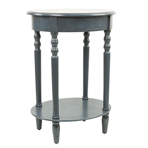 (Décor Therapy FR1543 Simplify Oval Accent Table Antique Navy)