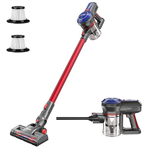 BEAUDENS B6 Cordless Stick Vacuum Cleaner, 16Kpa Powerful Suction, 160W Digital Motor, 5 in 1 Lightweight Rechargeable Handheld Vacuum for Home Hard Floor Carpet Bed