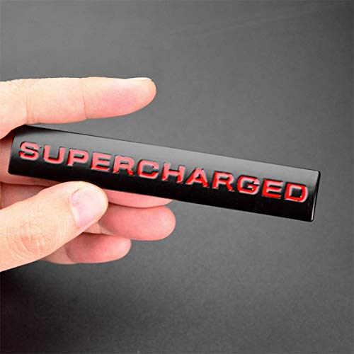 Supercharged Sport Car Sticker Metal Emblem Auto Badge Decal for Supercharged Range Rover Sport (red-Black)