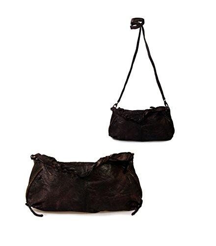 IO.IO.MIO Borsetta per le Icone® - Cartera de mano de Piel Lisa para mujer marrón marrón