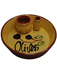 Naturally Med Ceramic Olive Dish, Yellow