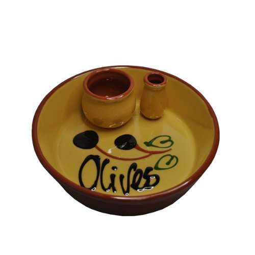 - Naturally Med Ceramic Olive Dish, Yellow