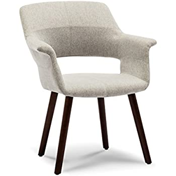 Peachy Amazon Com Modway Aegis Upholstered Dining Armchair Light Bralicious Painted Fabric Chair Ideas Braliciousco
