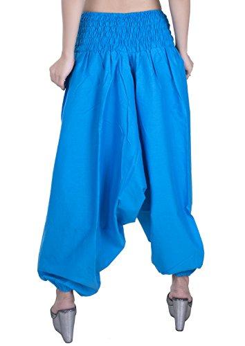 Sarjana Handicrafts - Pantalón - para mujer azul celeste