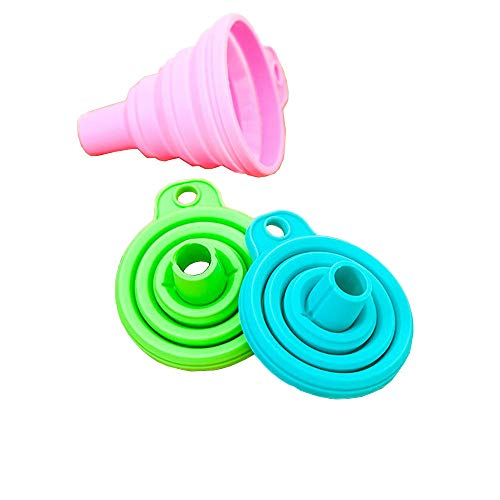 iuchoice ❤️❤️ Silicone Gel Practical Collapsible Foldable Funnel Hopper Kitchen Tool Gadget