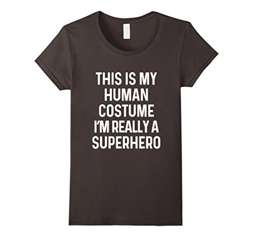 Womens Funny Superhero Costume Shirt Halloween Kids Adult Men Women Large Asphalt (90's Kid Halloween Costume)