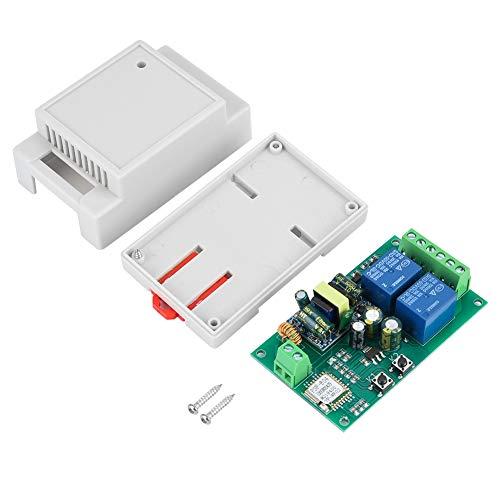 (WiFi Relay Module,AC 220V YF-WF-02 WiFi 2-Channel Relay Module Smart Home APP Remote Control Board APP Remote Control Relay)