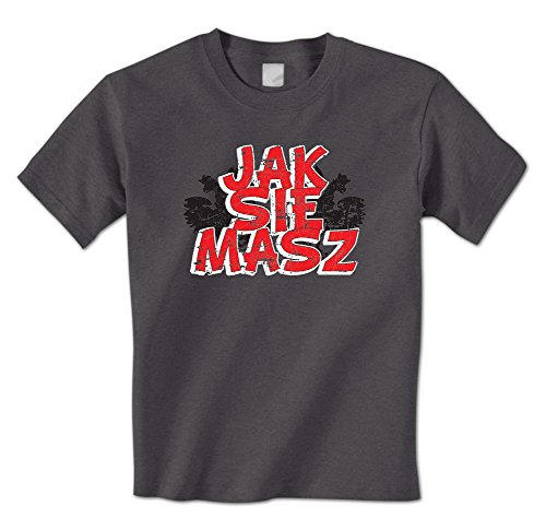 Borat Tee Shirts - Jak Sie Masz -How are You? In Polish -Borat Quote Mens T-Shirt (XL Charcoal)