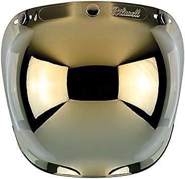 Visera Bubble Biltwell Espejo Antivaho para cascos Jet a 3/botones