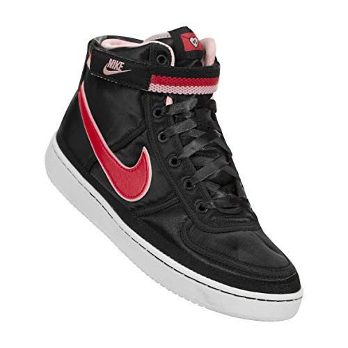 Nike Youth Vandal High Supreme QS Sneakers (Black/Speed Red-Bleached Coral, 6.5 M US Big Kids (Nike Flight Qs)