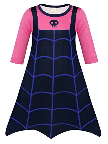 AmzBarley Little Girls Boo-Tiful Pullover Dress Halloween Vampire Costumes Holiday Party Fancy Dress Age 3-4 Years Pink Size -