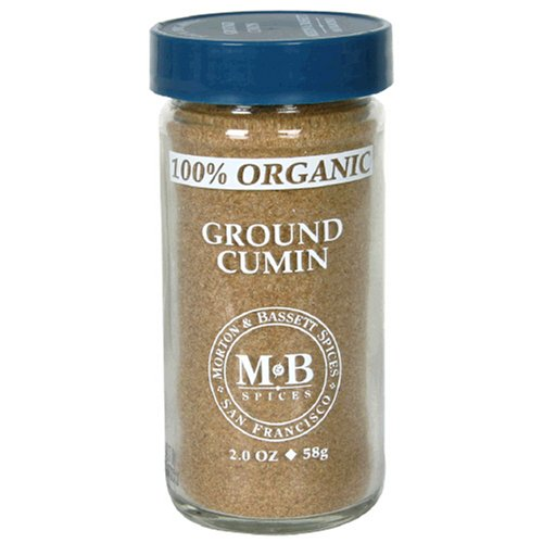 Morton & Bassett Organic Ground Cumin, 2-Ounce Jars (Pack of 3)