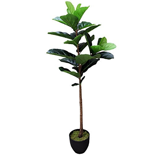 4' Real Touch Fiddle Leaf Fig Silk Tree w/Pot -29 Leaves - Silk Trees Fig