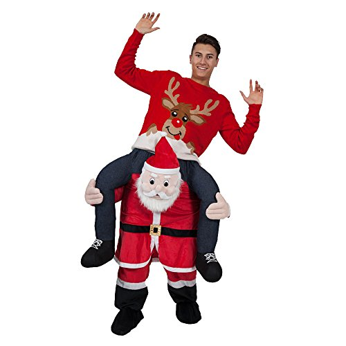 Novelty Carry Me Ride on Easter Mascot Costume Animal Funny Fancy Dress Pants-New Style Santa Claus (Funny Santa Costumes)