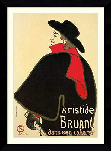 Framed Wall Art Print | Home Wall Decor Art Prints | Aristide Bruant in His Cabaret by Henri de Toulouse-Lautrec | Modern Decor