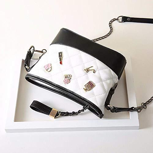Aosiwei di moda donna di catena Cento portano obliqua a vagabonda profumo a tracolla Borsa a sacchetti la piccola 4PZf0r4R