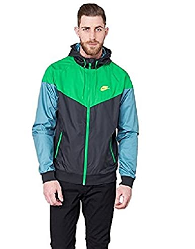 50% off great fit the sale of shoes Nike M NSW WR JKT mens athletic-warm-up-and-track-jackets 727324-011_XL -  BLACK/STADIUM GREEN/ELECTROLIME
