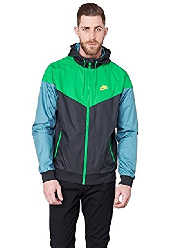 060c59cec4 Nike M NSW WR JKT Mens Athletic-Warm-up-and-Track-Jackets 727324-011 2XL -  Black Stadium Green ELECTROLIME  Buy Online at Low Prices in India -  Amazon.in