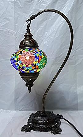 nueva lampara turca original sobre mesa 42 cm x 13 cm ...