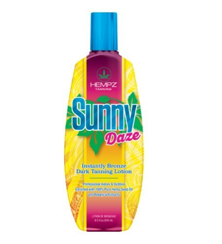 HEMPZ Sunny Daze Instantly Bronze Dark Tanning Lotion 8.5 fl oz / 250 ml