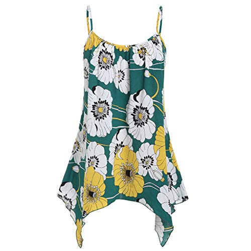 f81b8eece85 Amazon.com: Yamally Women Summer Blouse Plus Size,Ladies 2019 Floral  Printed Cold Shoulder Shirt Sleeveless Vest Tank Tops Blouse: Clothing
