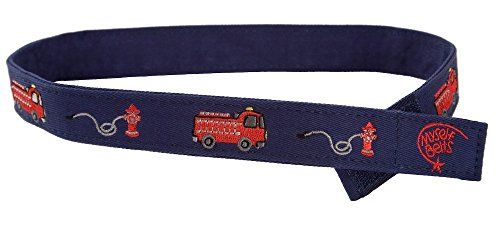 Myself Belts - Toddler and Kids Belt for Boys - Firetruck (4T)