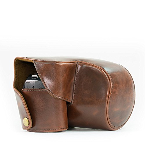 MegaGear MG176 Ever Ready Leather Camera Case Compatible with Panasonic Lumix DMC-FZ200 - Brown