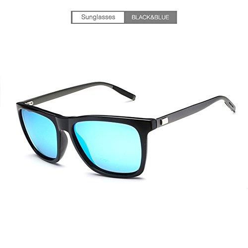 manera negra RFVBNM personalidad del sol libre de la la gafas del del al ULTRAVIOLETA de conductor sol de de aluminio las marco con marco negro anti Gafas azul hielo lente sol negro de Lente magnesio Gafas marco de del aire oscura IrrqxFwAg
