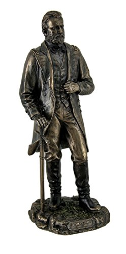 Resin Statues Ulysses S. Grant 18Th Us President Standing In Uniform With Sword Statue 4 X 11 X 4 Inches Bronze