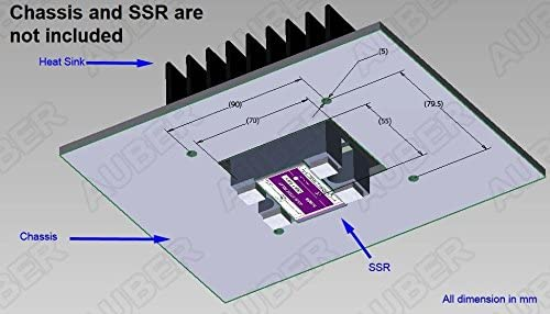 External-Mount Heat Sink for 25A SSR