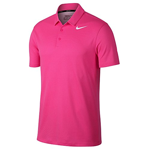 NIKE Dry Fit Textured Golf Polo 2017 Hyper Pink/White ()