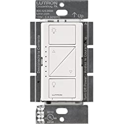 LUTRON PD-6WCL-WH Caseta Wireless In-Wall Smart Dimmer Switch, White, Works with Amazon Alexa