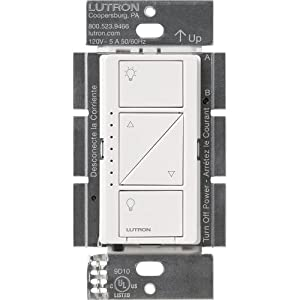 Lutron Caseta Smart Home Dimmer Switch, Works with Alexa, Apple HomeKit, and the Google Assistant | for LED Light Bulbs…