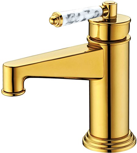 MDRW-All copper basin faucet, toilet single hole hot and cold water tap by MDRW