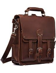 Saddleback Leather Front Pocket Messenger Bag - 100% Full Grain Leather Backpack Bag with 100 Year Warranty