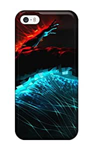 Awesome Design 3d Graphics Fire And Water5126 Hard Case Cover For Iphone 5/5s